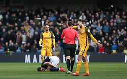 Beram Kayal of Brighton and Hove Albion fouls Ryan Leonard of Millwall - Mandatory by-line: Arron Gent/JMP - 17/03/2019 - FOOTBALL - The Den - London, England - Millwall v Brighton and Hove Albion - Emirates FA Cup Quarter Final
