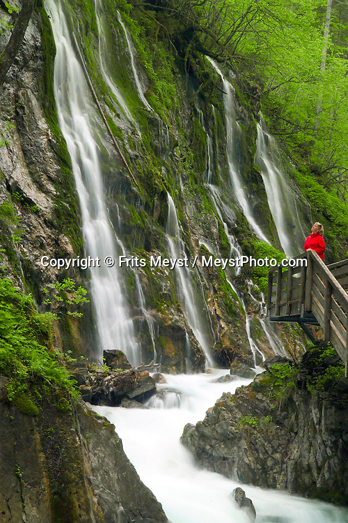 Berchtesgaden, Bavaria, Germany, May 2006. White water rushes over the rocks of the Wimbachklamm gorge. The beauty of berchtesgadener Land lies in the spectacular mountain landscapes, combined with age old traditions and a welcoming culture. Photo by Frits Meyst/Adventure4ever.com