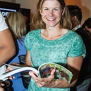 NLD/Amsterdam/20140507 - Presentatie Helden Magazine nr. 22, roeister Inge Janssen