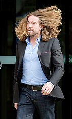 OCT 09 2012 Justin Lee Collins leaving Crown Court