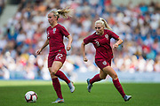 Beth Mead (England) & Alex Greenwood (England) during the FIFA Women's World Cup UEFA warm up match between England Women and New Zealand Women at the American Express Community Stadium, Brighton and Hove, England on 1 June 2019.