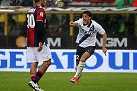 """Esultanza di Diego Milito<br /> Goal celebration<br /> Bologna 28/10/2012 Stadio """"Dallara""""<br /> Football Calcio Serie A 2012/13<br /> Bologna v Inter<br /> Foto Insidefoto Paolo Nucci"""