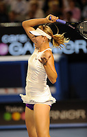Melbourne Australian Open 2008 24/01/2008<br /> Maria Sharapova (RUS) lets fly during semi final win<br /> Photo Roger Parker Fotosports International