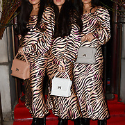 The Tripletsss - Persian beauties attend Travel bag brand hosts the launch of its exclusive luxury collection of handbags in collaboration with model and designer Anastasiia Masiutkina  D'Ambrosio on 26 March 2019, Caviar House & Prunier 161 Piccadilly, London, UK.