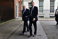 © Licensed to London News Pictures. 21/09/2017. London, UK.  Foreign Secretary BORIS JOHNSON and Chancellor of the Exchequer PHILLIP HAMMOND leave a cabinet meeting in Downing Street. Photo credit: Ray Tang/LNP