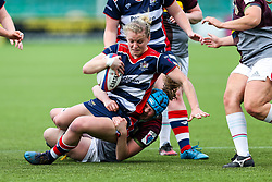Claire Molloy of Bristol Ladies - Rogan Thomson/JMP - 23/04/2017 - RUGBY UNION - Sixways Stadium - Worcester, England - Bristol Ladies Rugby v Aylesford Bulls - Women's Premiership Final.