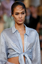 Model Joan Smalls walks on the runway during the Alberta Ferretti Fashion Show during Milan Fashion Week Spring Summer 2018 held in Milan, Italy on September 20, 2017. (Photo by Jonas Gustavsson/Sipa USA)