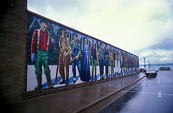 History depicting murals decorate the buildings of downtown Ashland, Wisconsin.