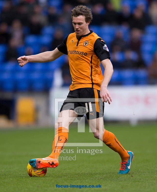 Kevin McDonald of Wolverhampton Wanderers during the Sky Bet Championship match at the Macron Stadium, Bolton<br /> Picture by Russell Hart/Focus Images Ltd 07791 688 420<br /> 31/01/2015