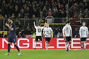 Lukas Podolski of Germany celebrates with fans after his goal 1-0 during the International Friendly match between Germany and England at Signal Iduna Park, Dortmund, Germany on 22 March 2017. Photo by Phil Duncan.