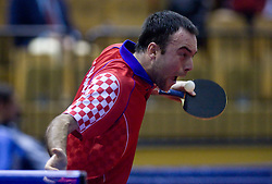 Roko Tosic of Croatia at  10th Slovenian Open Table Tennis Championships - Pro Tour Velenje Slovenian Open tournament, in Round 1, on January 15, 2009, in Red sports hall, Velenje, Slovenia. (Photo by Vid Ponikvar / Sportida)