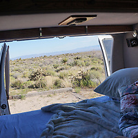 View from the back of the van at Hole-in-the-Wall campground.