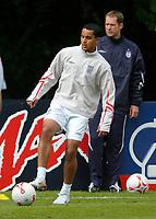 Photo: Richard Lane.<br />England Training Session. 22/05/2006.<br />Theo Walcott during training.