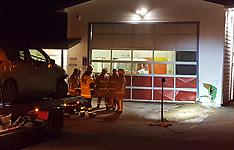 Auckland-Car collides with Waiatirua Fire Station