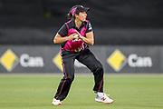 Kate Ebrahim fielding. Women's T20 international Cricket, Australia v New Zealand White Ferns.  Manuka Oval, Canberra, 5 October 2018. Copyright Image: David Neilson / www.photosport.nz