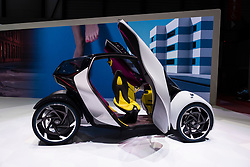 Toyota i-Tril electric city car concept at 87th Geneva International Motor Show in Geneva Switzerland 2017