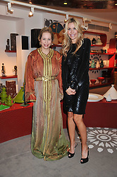 Left to right, The Ambassador of Morocco to the UK HH PRINCESS LALLA JOUMALA ALAOUI and MELISSA ODABASH at the Inspiring Morocco launch held at Harrods, Knightsbridge, London on 3rd November 2011.