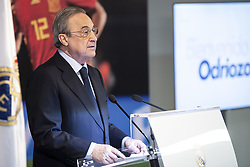 July 18, 2018 - Madrid, Spain - Real Madrid president, Florentino Perez, during the presentation of Alvaro Odriozola as new Real Madrid player at Santiago Bernabéu Stadium in Madrid, Spain. July 18, 2018. (Credit Image: © Coolmedia/NurPhoto via ZUMA Press)