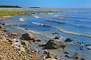 Rocky shoreline of Great Slave Lake<br /> near Rae-Edzo on the Yellowknife Highway<br /> Northwest Territories<br /> Canada
