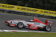 The Toyota Racing Series car of Puerto Rico's Felix Serralles during qualifying for the NZ Grand Prix at the Fujitsu 200 at Manfeild Autocourse on 11 February 2012. The Fujitsu 200 is part of the New Zealand Premier Race Championship Series.