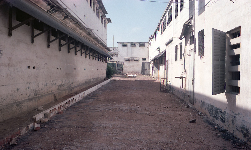 Court yard of the old James Fort in James Town, Accra, Ghana 2011