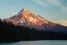 Lost Lake (Mt Hood) Fishing Photos - Stock images