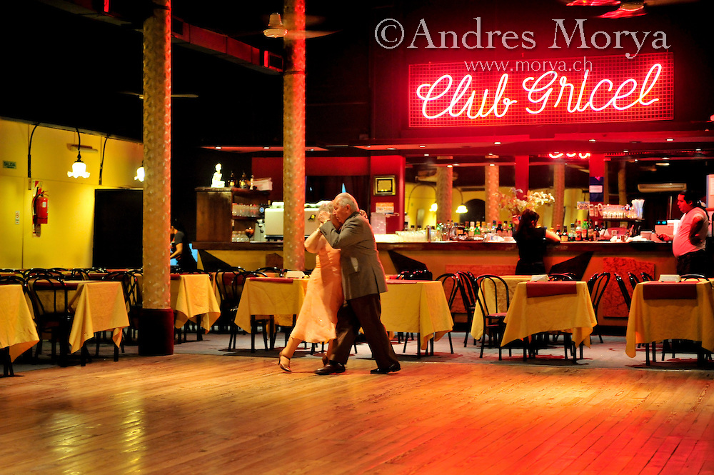 Tango Dancers in Milonga Gricel, Buenos Aires, Argentina Image by Andres Morya