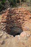 Well hole water supply near Presillas Bajas, Cabo de Gata national park, Almeria, Spain