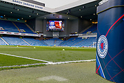 Preparations well underway for the Ladbrokes Scottish Premiership match between Rangers and Aberdeen at Ibrox, Glasgow, Scotland on 27 April 2019.