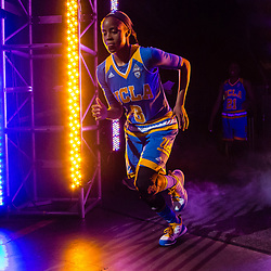 March 6, 2016: UCLA guard Jordin Canada (3) is introduced at the PAC-12 Women's Tournament Final at Key Arena in Seattle, Washington. (Christopher Mast/Icon Sportswire)
