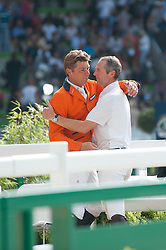 Jeroen Dubbeldam, (NED), Patrice Delaveau, (FRA) - Show Jumping Final Four - Alltech FEI World Equestrian Games™ 2014 - Normandy, France.<br /> © Hippo Foto Team - Becky Stroud<br /> 07/09/2014