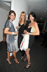 Left to right, CAROLINA TONG, MELISSA ODABASH and ASSIA WEBSTER at a dinner hosted by Ruinart Champagne for Yasmin Mills at Nobu, Park Lane, London on rth May 2009.