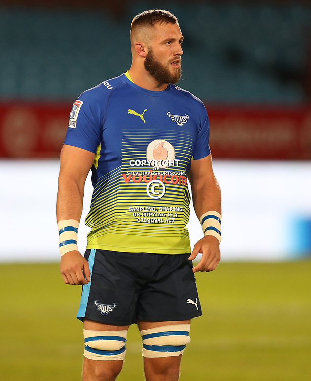 Jason Jenkins of the Vodacom Bulls during the Super Rugby match between the Vodacom Bulls and the Jaguares at Loftus Versfeld, Pretoria,South Africa April 15th 2017 Photo by (Steve Haag)