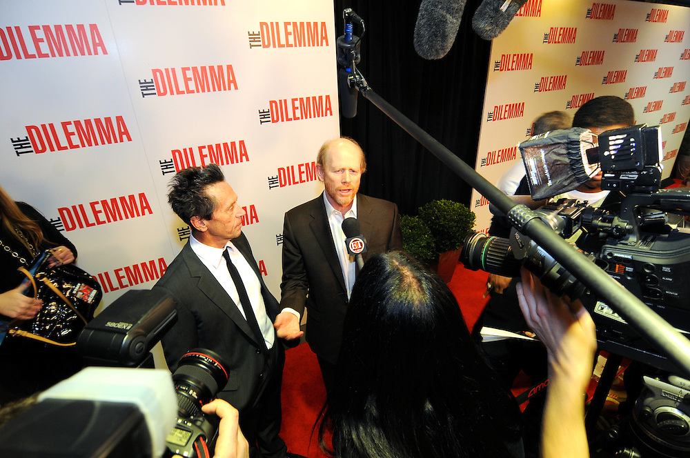Brian Grazer and Ron Howard at The Dilemma world premiere