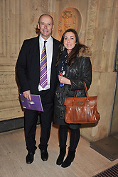 SIR CLIVE WOODWARD and ? at Cirque du Soleil's VIP night of Kooza held at the Royal Albert Hall, London on 8th January 2013.