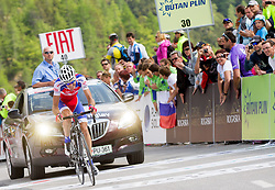 Winner Radoslav Rogina (CRO) of Adria Mobil during Stage 3 from Skofja Loka to Vrsic (170 km) of cycling race 20th Tour de Slovenie 2013,  on June 15, 2013 in Slovenia. (Photo By Vid Ponikvar / Sportida)