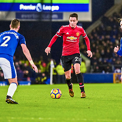 Ander Herrera of Manchester United on the ball during the Premier League match between Everton and Manchester United, Goodison Park, Monday 1st January 2018<br /> (c) John Baguley | SportPix.org.uk