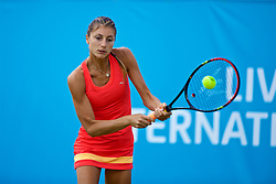 LIVERPOOL, ENGLAND - Thursday, June 15, 2017: Corinna Dentoni (ITA) during Day One of the Liverpool Hope University International Tennis Tournament 2017 at the Liverpool Cricket Club. (Pic by David Rawcliffe/Propaganda)