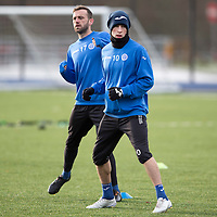 St Johnstone Training...12.12.14<br /> David Wotherspoon and James McFadden pictured training on the new all weather pitch at McDiarmid Parkahead of tomorrow's game at Kilmarnock<br /> Picture by Graeme Hart.<br /> Copyright Perthshire Picture Agency<br /> Tel: 01738 623350  Mobile: 07990 594431