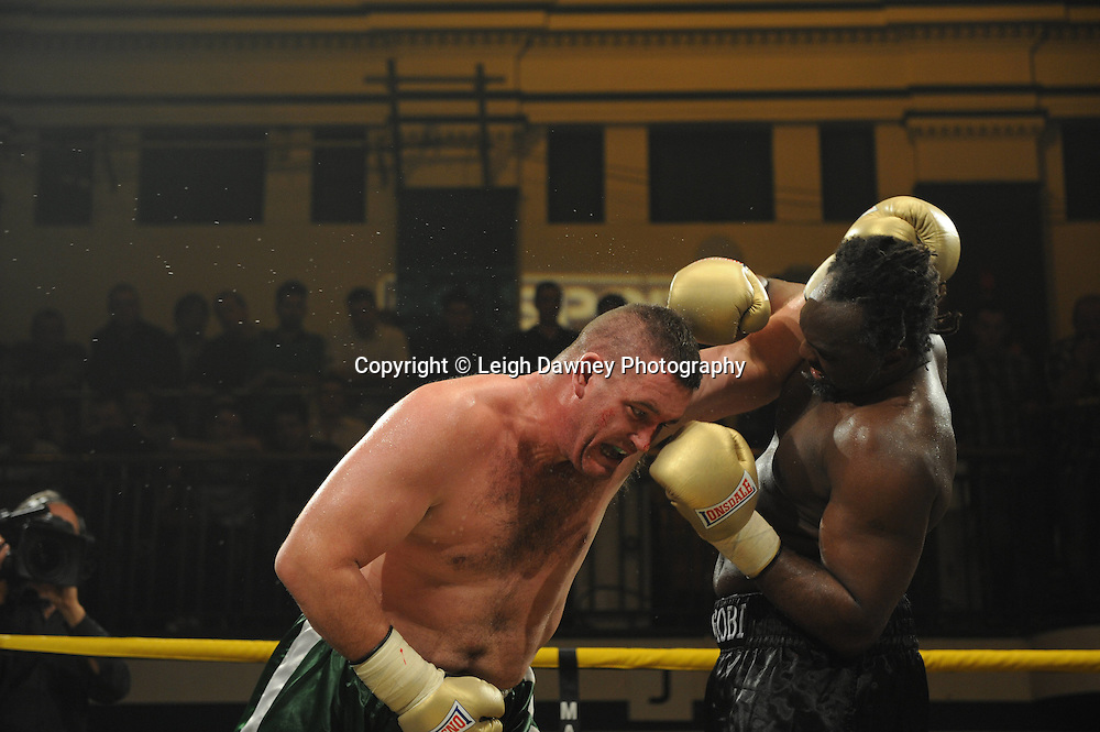 Kevin McBride defeats Franklin Egobi at Prizefighter The Heavyweights 9th Ocrtober 2010 at York Hall, Bethnal Green, London. Prizefighter/Matchroom Sport. Barry & Eddie Hearn © Photo credit: Leigh Dawney