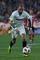 January 16, 2019 - Sevilla, Andalucia, Spain - Aleix Vidal of Sevilla FC drive the ball during the Copa del Rey match between Sevilla FC v Athletic Club at the Ramon Sanchez Pizjuan Stadium on January 16, 2019 in Sevilla, Spain  (Credit Image: © Javier MontañO/Pacific Press via ZUMA Wire)