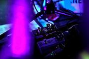Frankfurt am Main | 29.03.2013..The Balconies, eine Indie-Rock-Pop-Band aos Toronto (Ontario, Canada) live im Zoom (früher Sinkkasten) in Frankfurt am Main. Hier: Pedal Board des Gitarristen...©peter-juelich.com..[No Model Release | No Property Release]