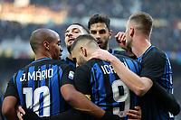 Inter-Chievo Verona - Serie a 15a giornata- Nella foto: L'esultanza dei giocatori  dell' Inter