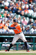 DETROIT, MI - MAY 21: George Springer #4 of the Houston Astros bats during the game against the Detroit Tigers at Comerica Park on May 21, 2015 in Detroit, Michigan. The Tigers defeated the Astros 6-5 in 11 innings. (Photo by Joe Robbins) *** Local Caption *** George Springer