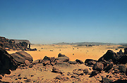 The vast sand plains of Bachik&eacute; entering the heart of the Ennedi region.<br />