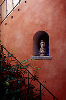Wall and staircase at The Cloisters, Antigua, Guatemala