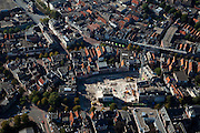 Nederland, Friesland, Leeuwarden, 08-09-2009; Binnenstad met bouwput sloop oude kantoorpanden (van en naast) Provinciehuis.Downtown demolition of old offices (belonging and next to) Province House.Luchtfoto (toeslag); aerial photo (additional fee required); .foto Siebe Swart / photo Siebe Swart