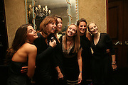 CARTIER GIRLS: ELODIE LOUDON, FLORENCE PAUL, LUCIE NEEDHAM, SARAH CARLSON, ZOE EVERARD, STEPHANIE VON WERTHERN. The 2007 Cartier Racing Awards. Four Seasonss Hotel. London. 14 November 2007. -DO NOT ARCHIVE-© Copyright Photograph by Dafydd Jones. 248 Clapham Rd. London SW9 0PZ. Tel 0207 820 0771. www.dafjones.com.