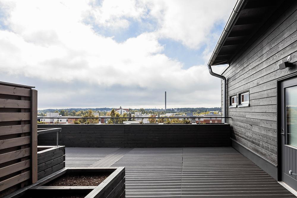 Eskolantie apartments in Helsinki, Finland designed by  Matti liramo Architects