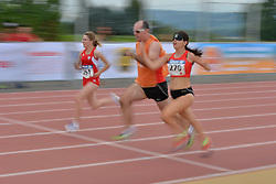 04/08/2017; Biernat, Inga, T13, POL, Munguira Ortiz de Cosca, Itxaso, T11, ESP at 2017 World Para Athletics Junior Championships, Nottwil, Switzerland